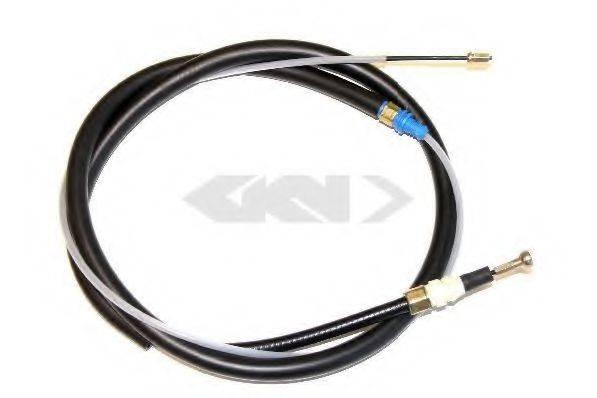 SPIDAN 43128 Трос, стояночная тормозная система