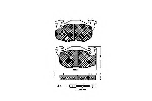 SPIDAN 31071 Комплект тормозных колодок, дисковый тормоз