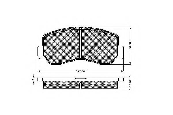 SPIDAN 31283 Комплект тормозных колодок, дисковый тормоз