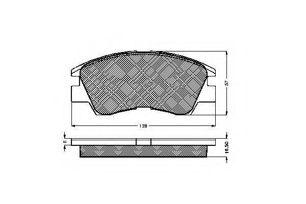 SPIDAN 32124 Комплект тормозных колодок, дисковый тормоз