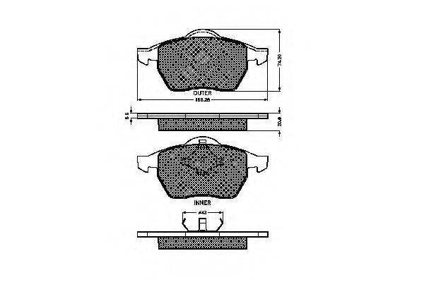SPIDAN 32551 Комплект тормозных колодок, дисковый тормоз