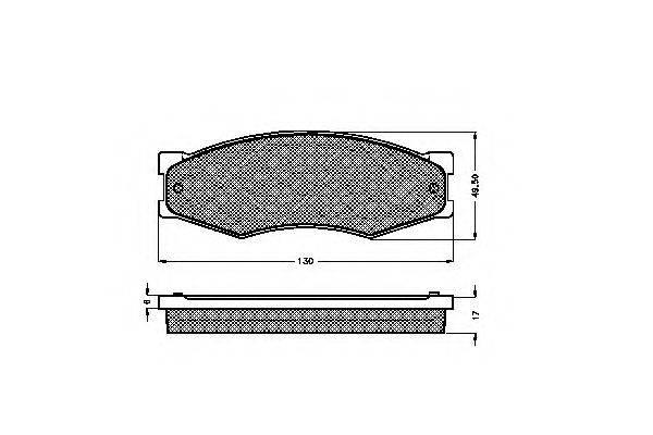 SPIDAN 32691 Комплект тормозных колодок, дисковый тормоз