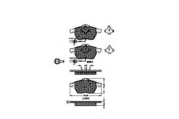 SPIDAN 32713 Комплект тормозных колодок, дисковый тормоз