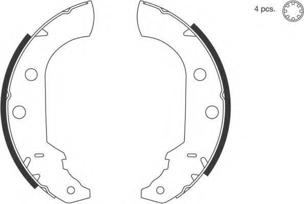 SPIDAN 31471 Комплект тормозных колодок