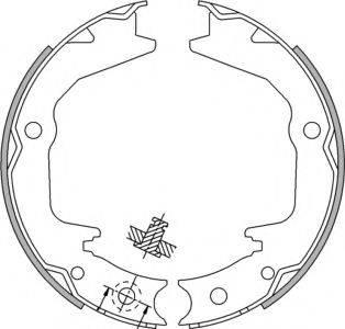 SPIDAN 33937 Комплект тормозных колодок, стояночная тормозная система