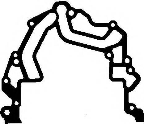 ELRING 233050 Прокладка, крышка картера (блок-картер двигателя)