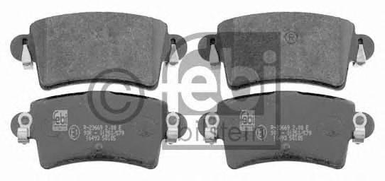FEBI BILSTEIN 16493 Комплект тормозных колодок, дисковый тормоз