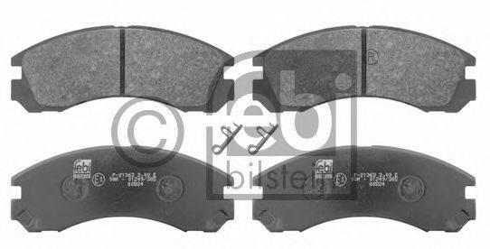 FEBI BILSTEIN 16646 Комплект тормозных колодок, дисковый тормоз