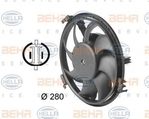 BEHR HELLA SERVICE 8EW009144351 Вентилятор, охлаждение двигателя