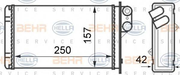 BEHR HELLA SERVICE 8FH351024291 Теплообменник, отопление салона