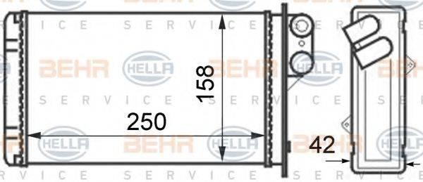 BEHR HELLA SERVICE 8FH351024331 Теплообменник, отопление салона