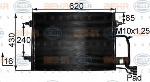 BEHR HELLA SERVICE 8FC351038421 Конденсатор, кондиционер