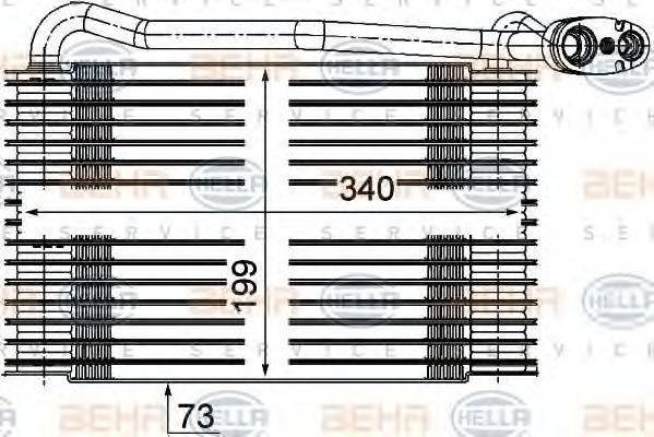 BEHR HELLA SERVICE 8FV351210171 Испаритель, кондиционер