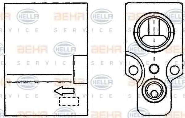 BEHR HELLA SERVICE 8UW351234241 Расширительный клапан, кондиционер