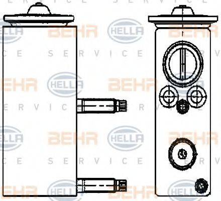 BEHR HELLA SERVICE 8UW351234461 Расширительный клапан, кондиционер