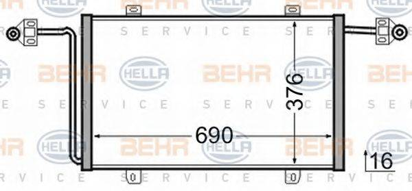 BEHR HELLA SERVICE 8FC351306541 Конденсатор, кондиционер