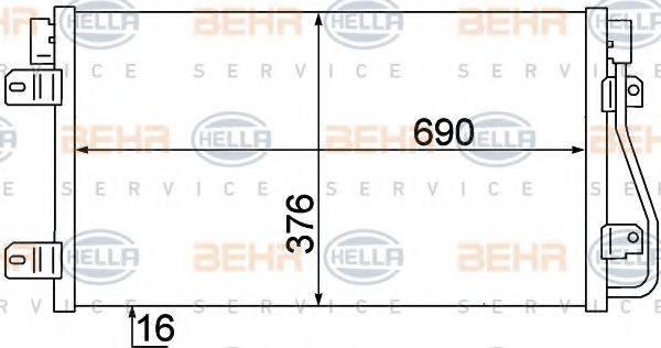 BEHR HELLA SERVICE 8FC351306641 Конденсатор, кондиционер