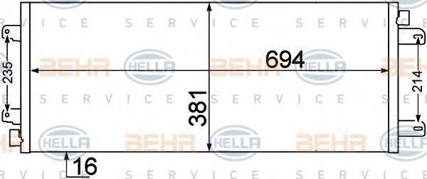 BEHR HELLA SERVICE 8FC351306651 Конденсатор, кондиционер
