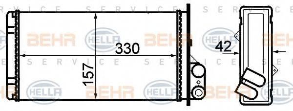 BEHR HELLA SERVICE 8FH351308541 Теплообменник, отопление салона