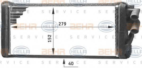 BEHR HELLA SERVICE 8FH351311621 Теплообменник, отопление салона