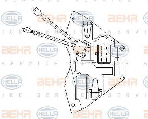 BEHR HELLA SERVICE 5HL351321171 Регулятор, вентилятор салона