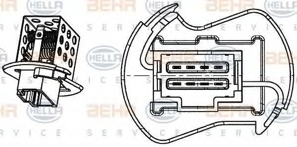 BEHR HELLA SERVICE 9ML351332251 Сопротивление, вентилятор салона