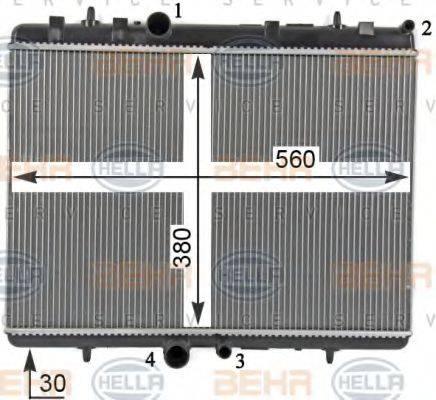 BEHR HELLA SERVICE 8MK376700531 Радиатор, охлаждение двигателя