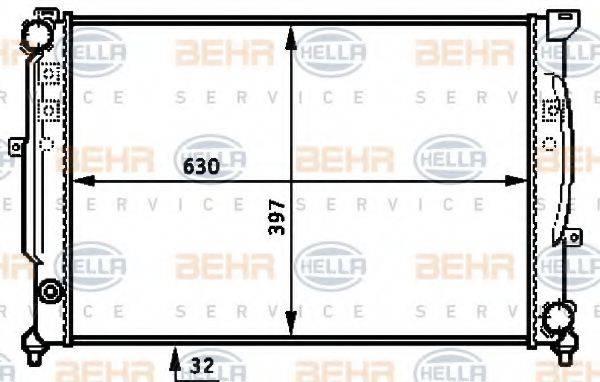 BEHR HELLA SERVICE 8MK376715331 Радиатор, охлаждение двигателя