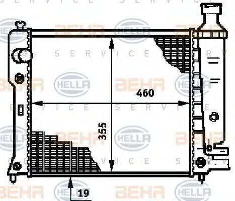 BEHR HELLA SERVICE 8MK376719571 Радиатор, охлаждение двигателя