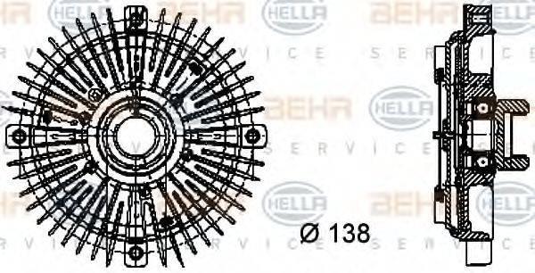 BEHR HELLA SERVICE 8MV376732021 Сцепление, вентилятор радиатора