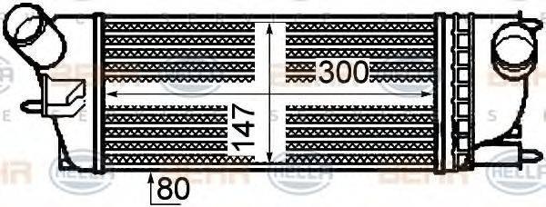BEHR HELLA SERVICE 8ML376760721 Интеркулер