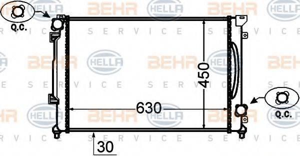 BEHR HELLA SERVICE 8MK376766191 Радиатор, охлаждение двигателя