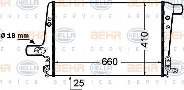 BEHR HELLA SERVICE 8ML376776041 Интеркулер