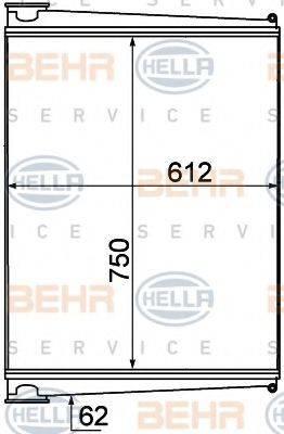 BEHR HELLA SERVICE 8ML376777011 Интеркулер