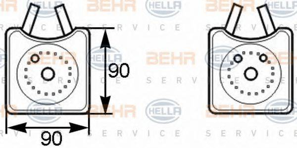 BEHR HELLA SERVICE 8MO376778001 масляный радиатор, двигательное масло