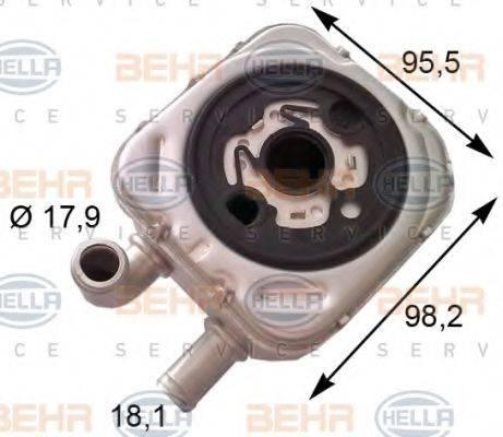 BEHR HELLA SERVICE 8MO376778051 масляный радиатор, двигательное масло