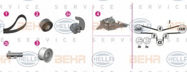 BEHR HELLA SERVICE 8MP376812841 Водяной насос + комплект зубчатого ремня