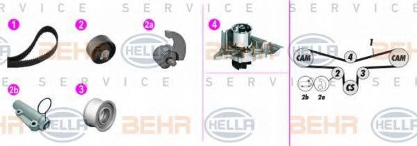 BEHR HELLA SERVICE 8MP376816841 Водяной насос + комплект зубчатого ремня