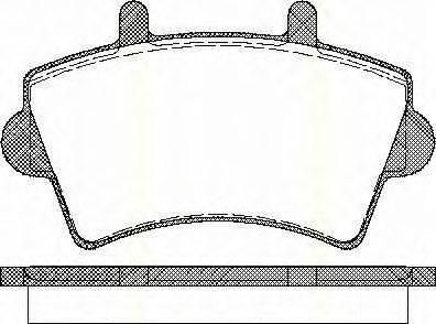 TRISCAN 811010527 Комплект тормозных колодок, дисковый тормоз
