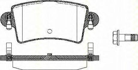 TRISCAN 811010528 Комплект тормозных колодок, дисковый тормоз