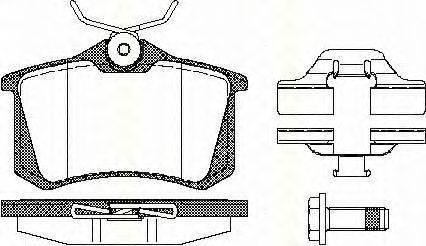 TRISCAN 811010544 Комплект тормозных колодок, дисковый тормоз