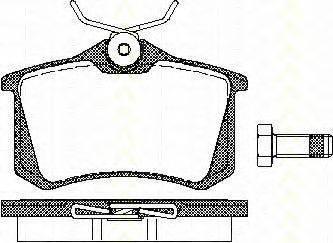 TRISCAN 811010864 Комплект тормозных колодок, дисковый тормоз