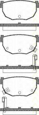 TRISCAN 811014034 Комплект тормозных колодок, дисковый тормоз