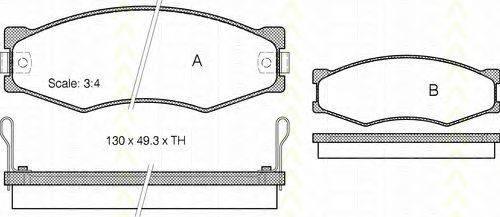 TRISCAN 811014103 Комплект тормозных колодок, дисковый тормоз