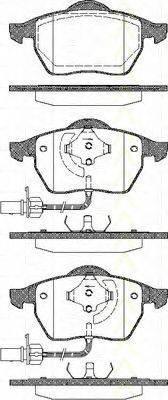TRISCAN 811029016 Комплект тормозных колодок, дисковый тормоз