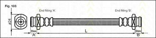 TRISCAN 815010011 Тормозной шланг