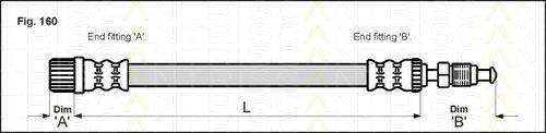 TRISCAN 815028110 Тормозной шланг