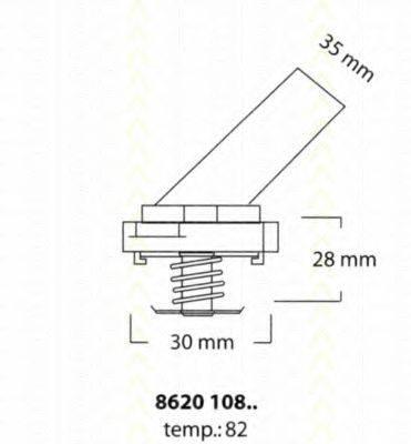 TRISCAN 862010882 Термостат, охлаждающая жидкость