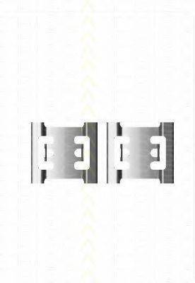 TRISCAN 8105101643 Комплектующие, колодки дискового тормоза