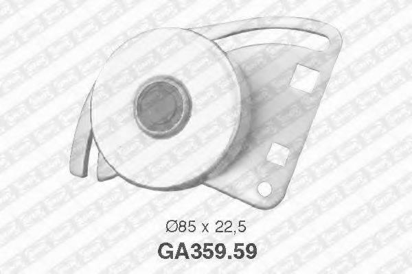 SNR GA35959 Натяжной ролик, поликлиновой  ремень